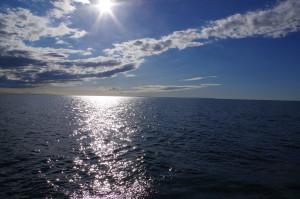 Underbar dag på havet, (från Läsö mot Grenå)